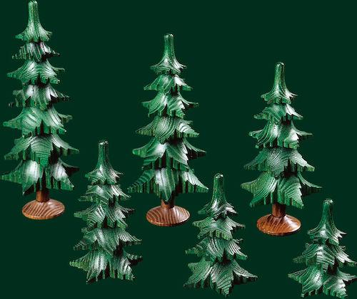 Tannenbaum Erzgebirge.Spanbäume Bäume