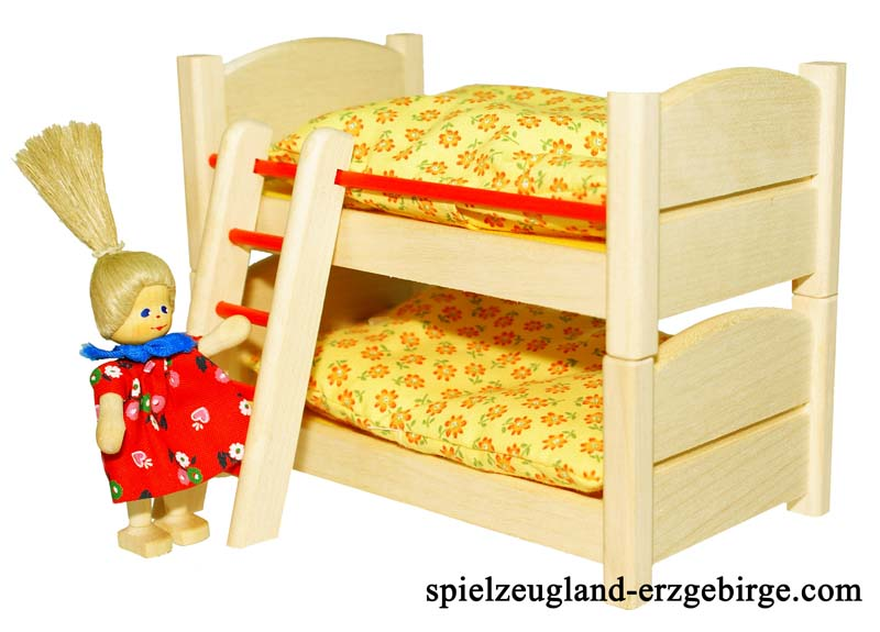 doppelstockbett f r das puppenhaus. Black Bedroom Furniture Sets. Home Design Ideas