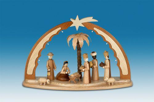 Schwibbogen: LED-Beleuchtung, Motiv: Christi Geburt Traditionell ...
