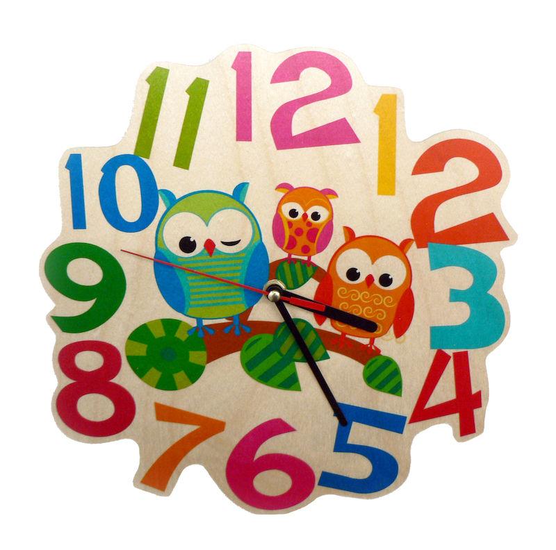 Kinderzimmer wanduhr eule for Wanduhr kinderzimmer